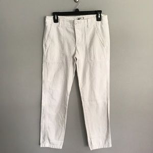 AEO white utility cropped pants women's size 0